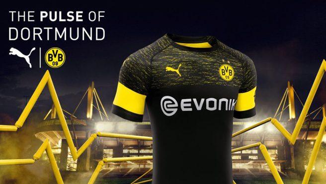 Camiseta de futbol Borussia Dortmund barata Segunda 2018-2019 ... cba913999b2